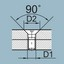 Point Angle-step drill_ 90˚